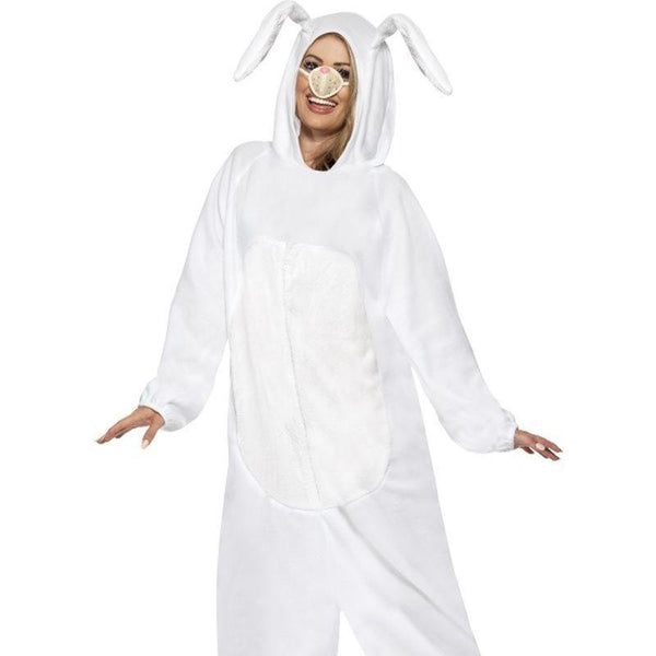 Rabbit Costume Adult White - Adult Animal Mad Fancy Dress