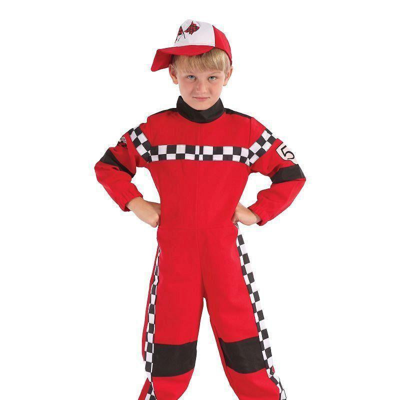 Racing Driver |L| |Childrens Costumes| To Fit Child Of Height 134Cm 146Cm - Boys Costumes Mad Fancy Dress