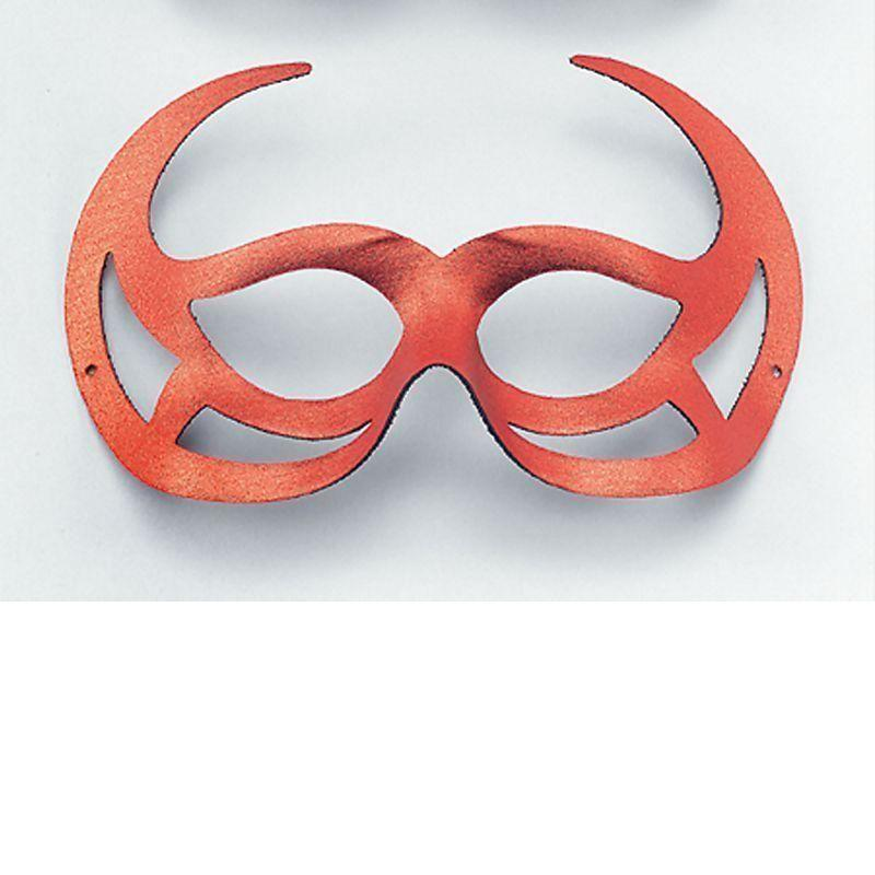 Red Demon Domino Eye Mask |Eye Masks| Unisex One Size - Eye Masks Mad Fancy Dress