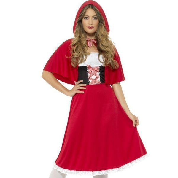 Red Riding Hood Costume Adult Red - Faries Wings & Wands Mad Fancy Dress