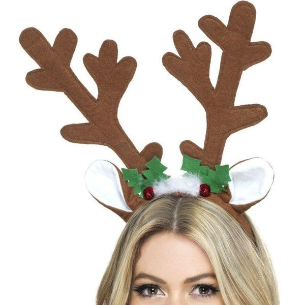 Reindeer Antlers Adult Brown - Christmas Costumes For Men Mad Fancy Dress