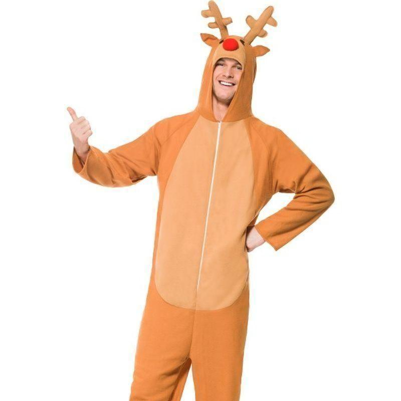 Reindeer Costume Adult Brown - Childrens Christmas Costumes Mad Fancy Dress
