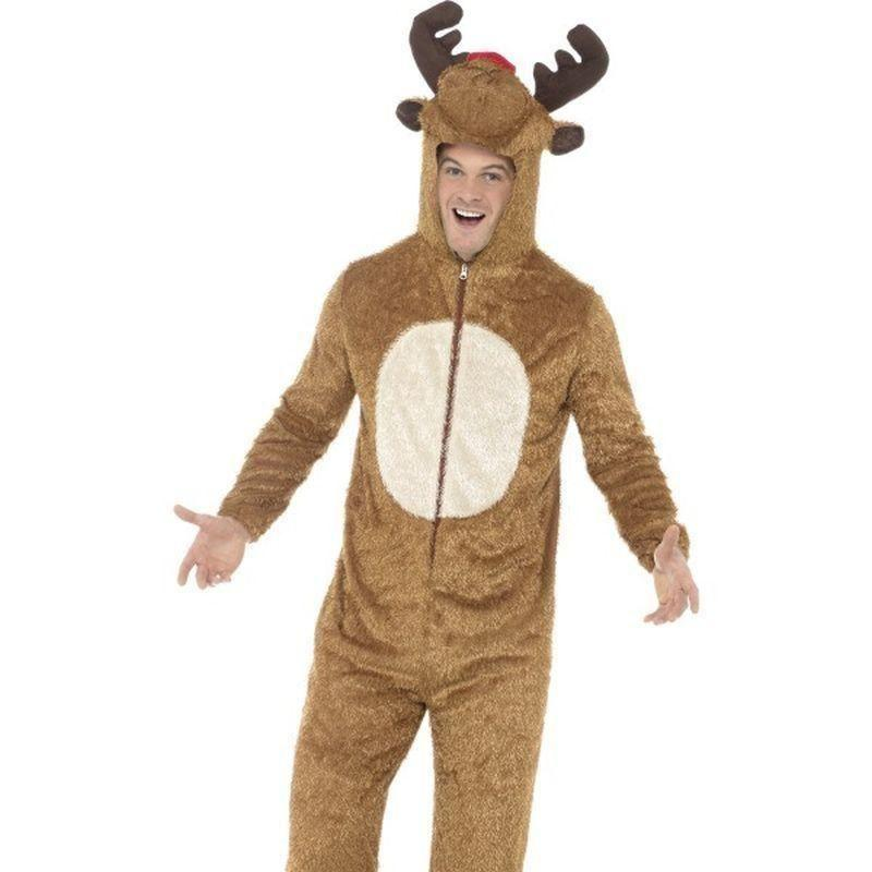 Reindeer Costume Adult Brown/white - Christmas Costumes For Men Mad Fancy Dress