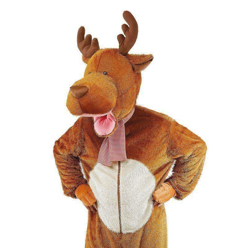 Reindeer/moose Costume Big Head Adult Costume Unisex One Size - Generic Unisex Costumes Mad Fancy Dress