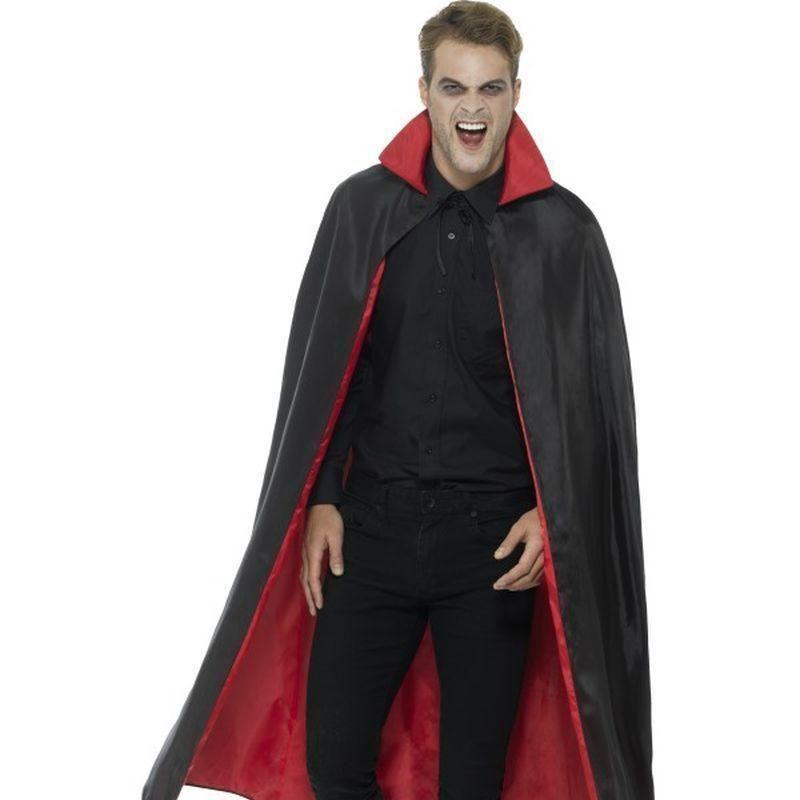 Reversible Vampire Cape Adult Black/red - Halloween Costumes & Accessories Mad Fancy Dress