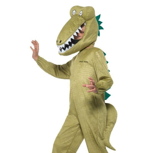 Roald Dahl Deluxe Enormous Crocodile Costume Kids Green - Roald Dahl Licensed Fancy Dress Mad Fancy Dress