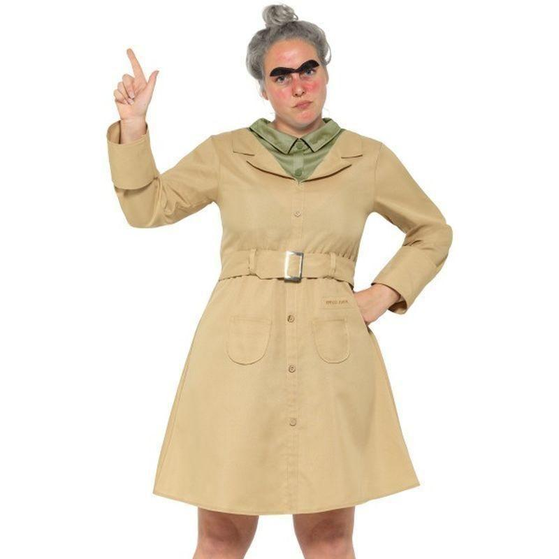 Roald Dahl Deluxe Miss Trunchbull Costume Adult Beige - Roald Dahl Licensed Fancy Dress Mad Fancy Dress