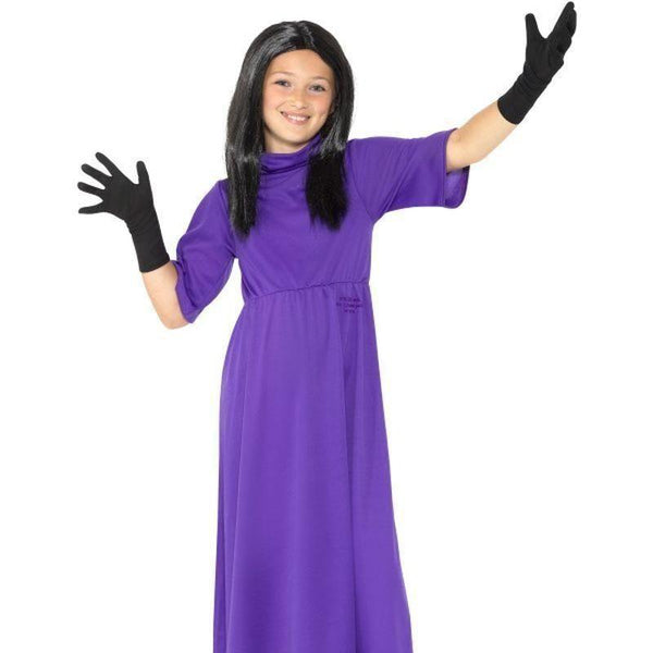 Roald Dahl Deluxe The Witches Costume Kids Purple - Roald Dahl Licensed Fancy Dress Mad Fancy Dress