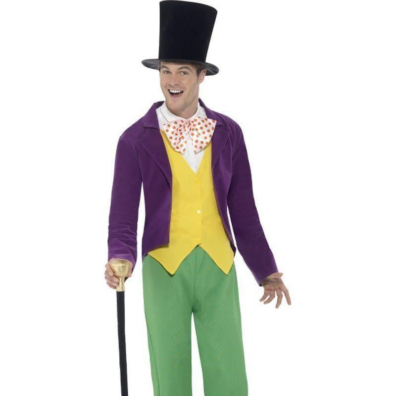 Roald Dahl Willy Wonka Costume Adult Black - Roald Dahl Licensed Fancy Dress Mad Fancy Dress