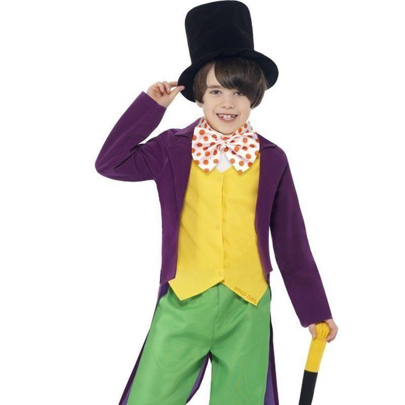 Roald Dahl Willy Wonka Costume Kids Green/yellow - Roald Dahl Licensed Fancy Dress Mad Fancy Dress