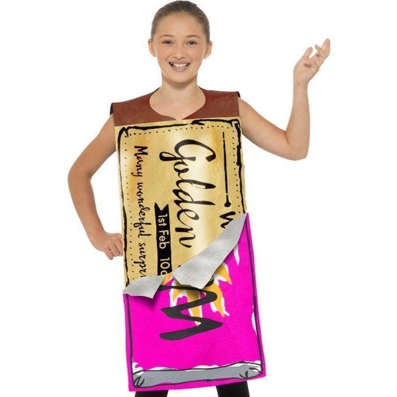 Roald Dahl Winning Wonka Bar Costume Kids Purple - Roald Dahl Licensed Fancy Dress Mad Fancy Dress