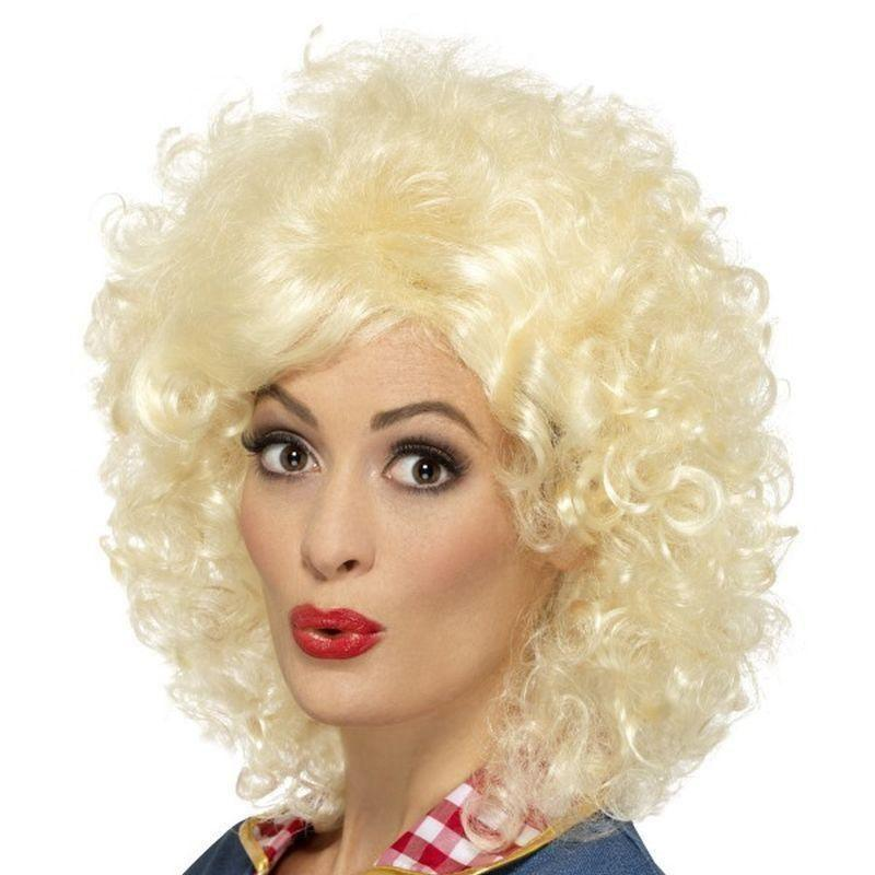 Rodeo Doll Wig Adult Blonde - Cowboys & Indians Mad Fancy Dress