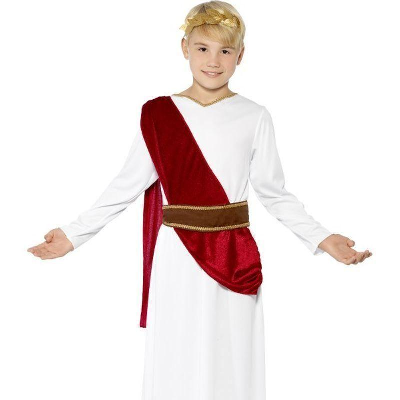 Roman Boy Costume Kids White/red - Boys Costumes Mad Fancy Dress