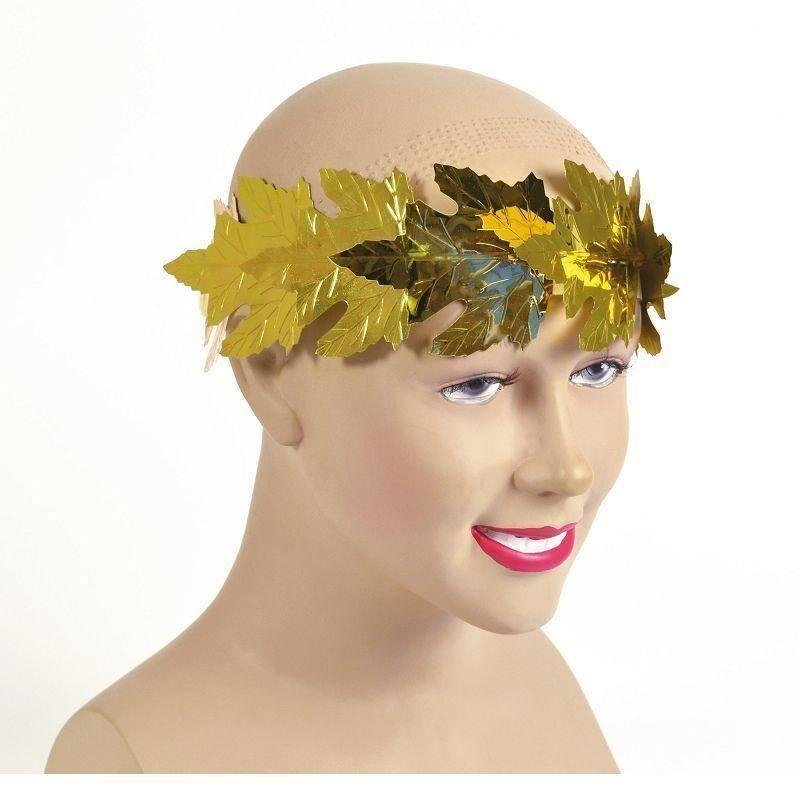 Roman Laurels Gold Leaf |Costume Accessories| Unisex One Size - Costume Accessories Mad Fancy Dress