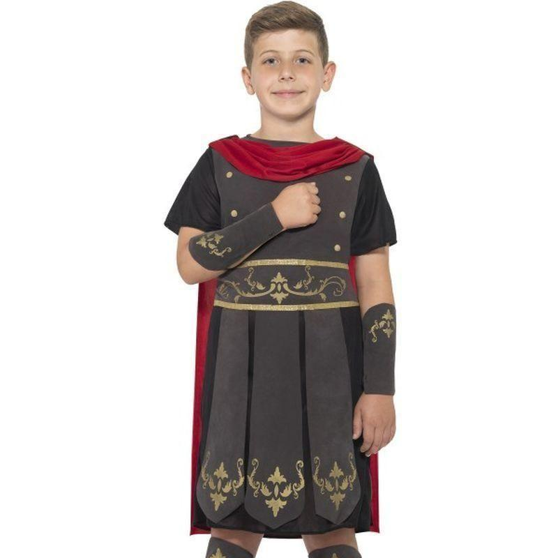 Roman Soldier Costume Kids Black - Boys Costumes Mad Fancy Dress