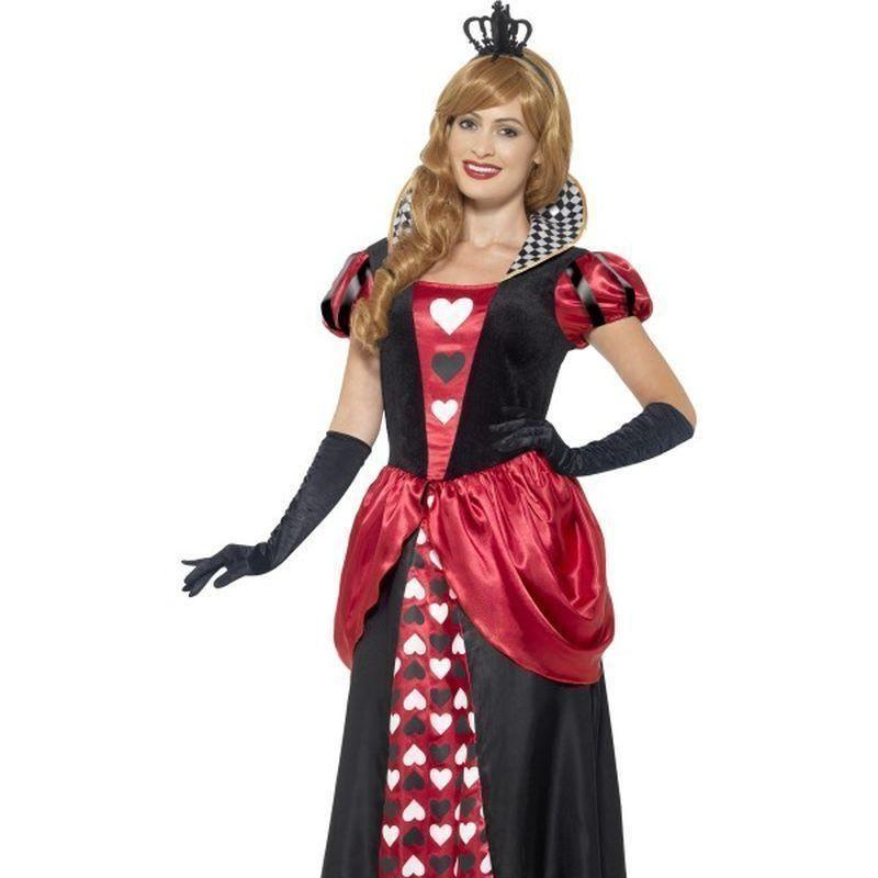 Royal Red Queen Costume Adult Red - Faries Wings & Wands Mad Fancy Dress
