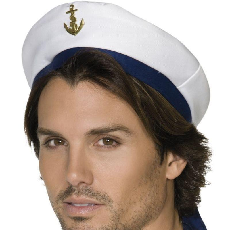 Sailor Hat Adult White - Land Sea & Air Forces Mad Fancy Dress