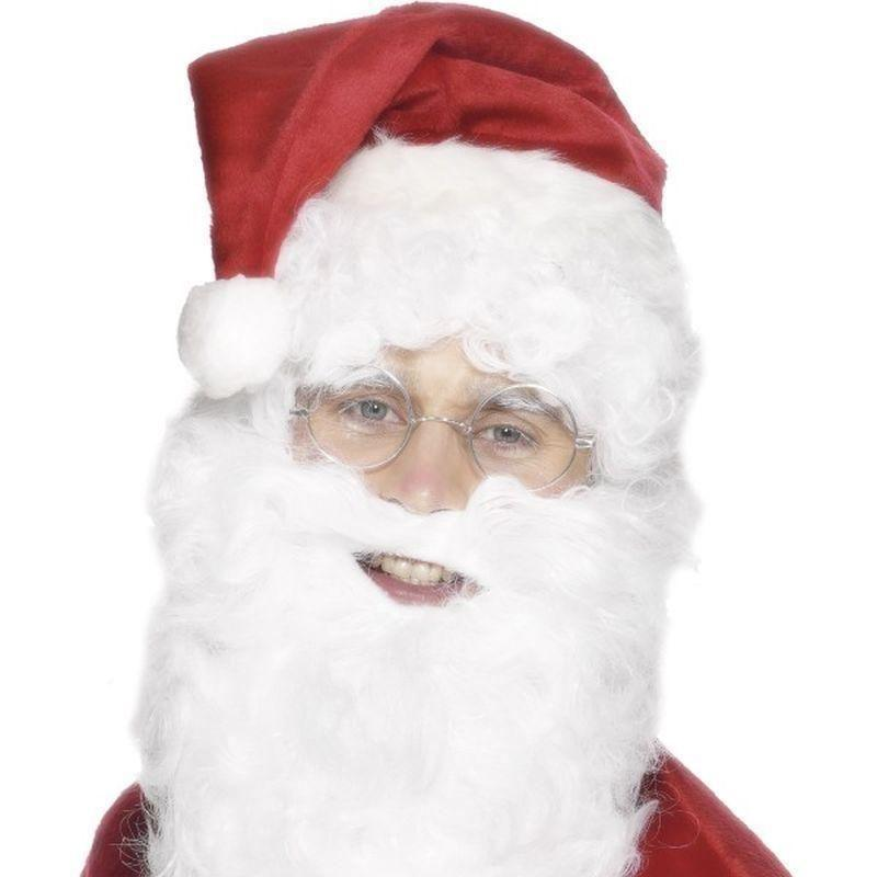 Santa Beard Adult White - Christmas Costumes For Men Mad Fancy Dress