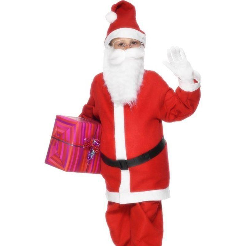 Santa Boy Costume Kids Red/white - Childrens Christmas Costumes Mad Fancy Dress