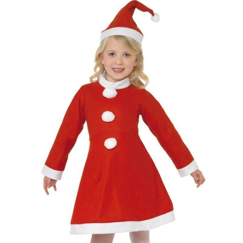 Santa Girl Costume Kids Red/white - Childrens Christmas Costumes Mad Fancy Dress