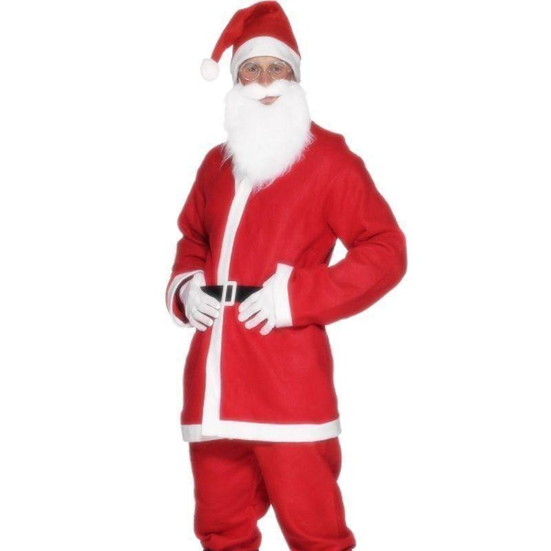 Santa Suit Costume Adult Red/white - Christmas Costumes For Men Mad Fancy Dress