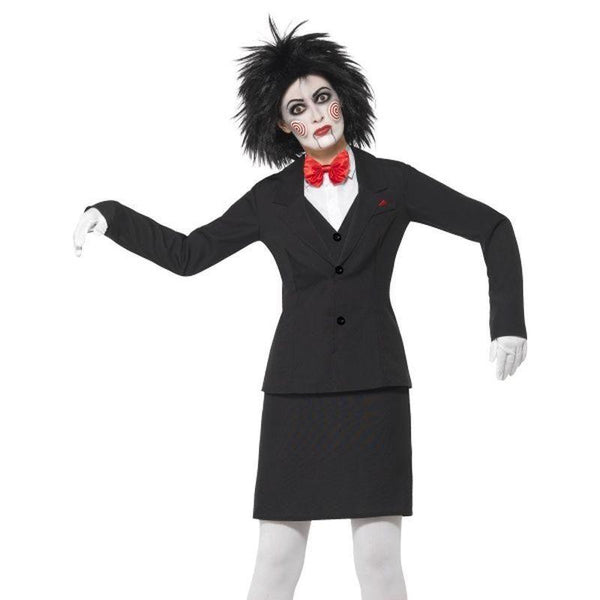 Saw Jigsaw Costume Adult Black - Saw Licensed Fancy Dress Mad Fancy Dress