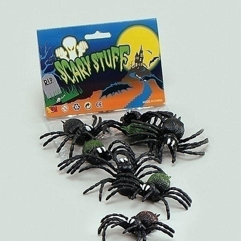 Scary Creatures Spiders |8/pkt| |Animal Kingdom| Unisex 8 Per Pack - Animal Kingdom Mad Fancy Dress