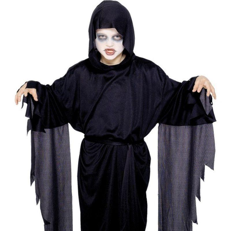 Screamer Ghost Robe Kids Black - Halloween Costumes & Accessories Mad Fancy Dress