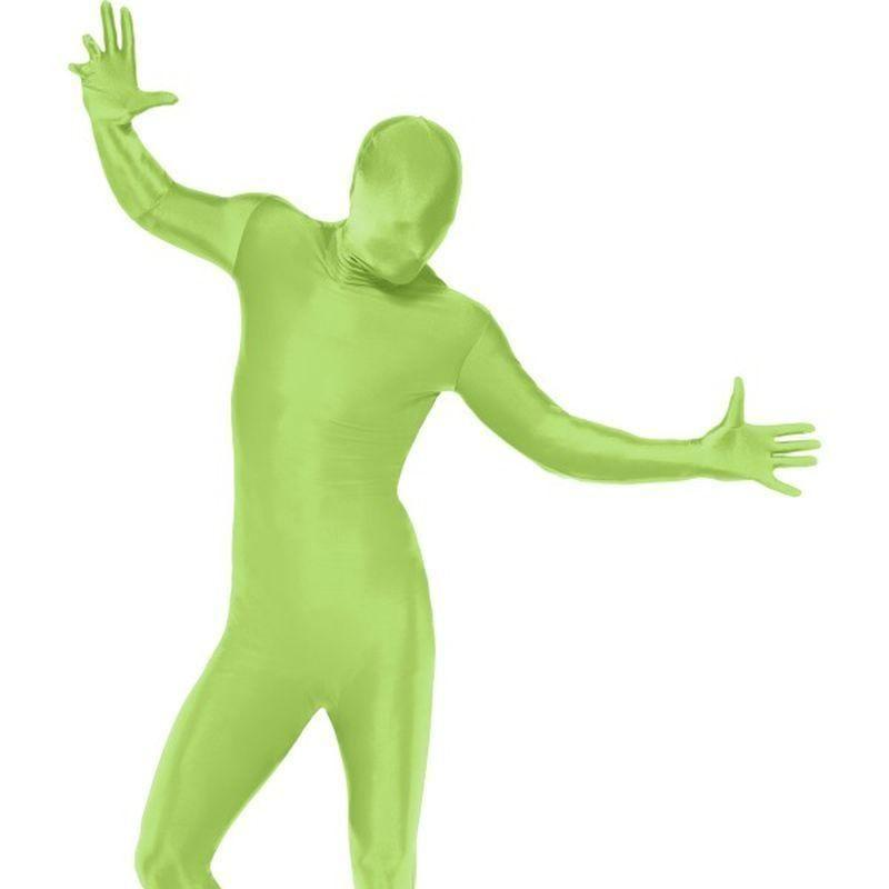 Second Skin Suit Adult Green - Second Skin Costumes Mad Fancy Dress