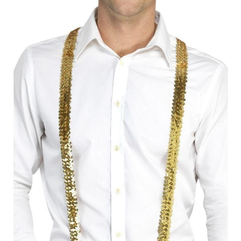 Sequin Braces Adult Gold - Party & Carnival Mad Fancy Dress