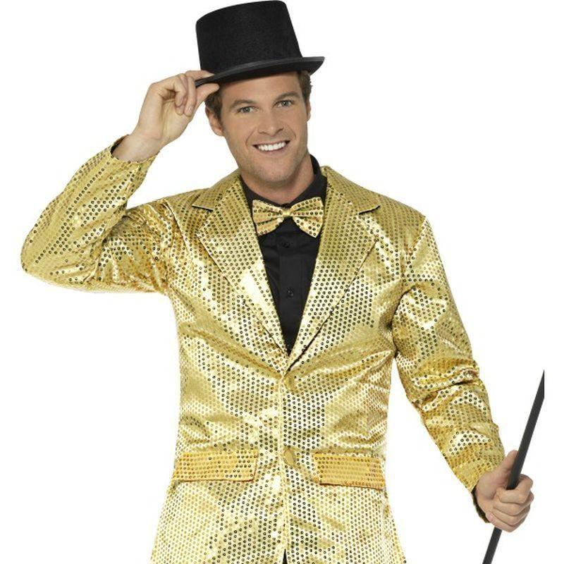 Sequin Jacket Mens Adult Gold - Party & Carnival Mad Fancy Dress
