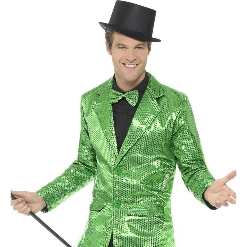 Sequin Jacket Mens Adult Green - Party & Carnival Mad Fancy Dress