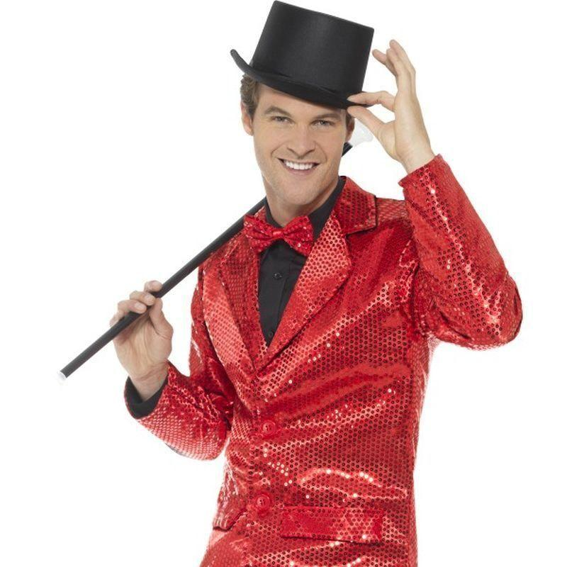 Sequin Jacket Mens Adult Red - Party & Carnival Mad Fancy Dress