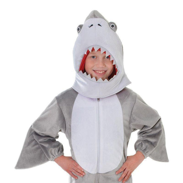Shark Plush With Head |128Cm| Childrens Costumes Unisex 128Cm - Boys Costumes Mad Fancy Dress