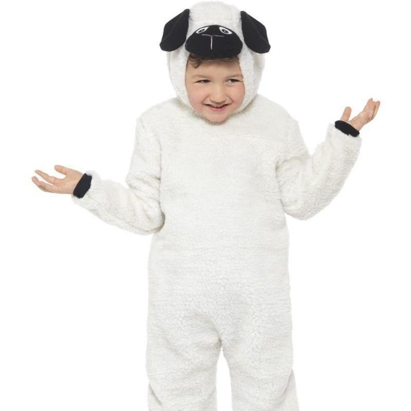 Sheep Costume Kids White/black - Childrens Animal Costumes Mad Fancy Dress