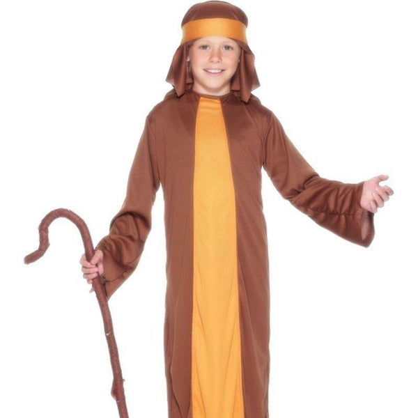 Shepherd Costume Kids Brown - Childrens Christmas Costumes Mad Fancy Dress