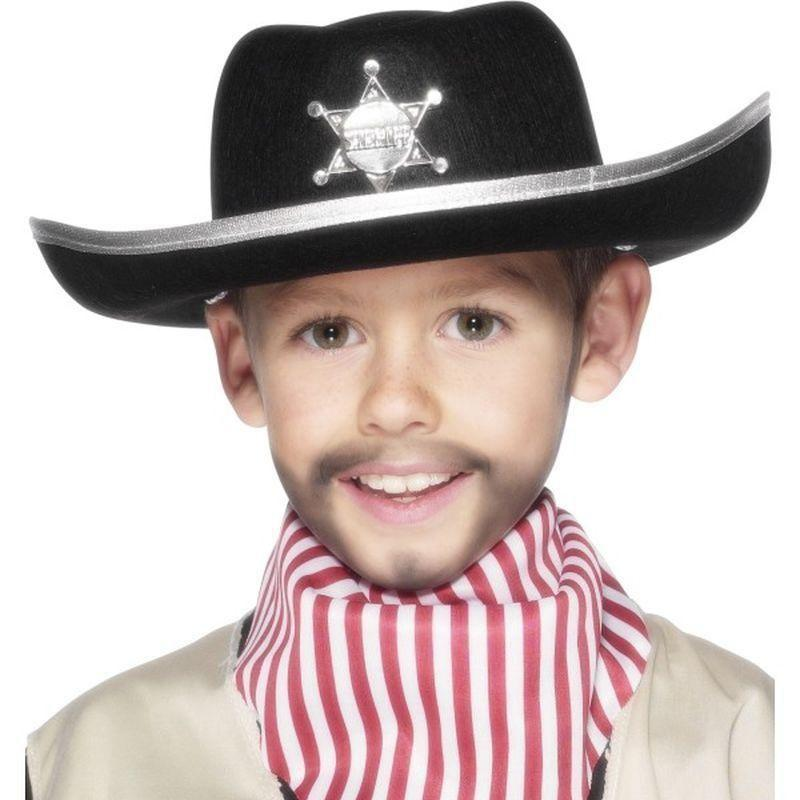 Sheriff Hat Kids Black - Boys Costumes Mad Fancy Dress