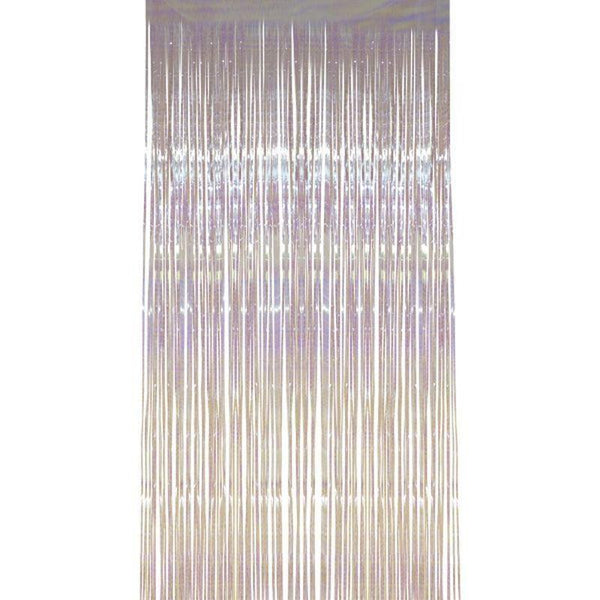 Shimmer Curtain Adult White - Party & Carnival Mad Fancy Dress