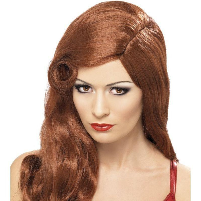 Silver Screen Sensation Wig Adult Auburn - Ladies Wigs Mad Fancy Dress