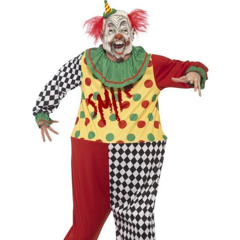 Sinister Clown Costume Adult Black - Halloween Costumes & Accessories Mad Fancy Dress