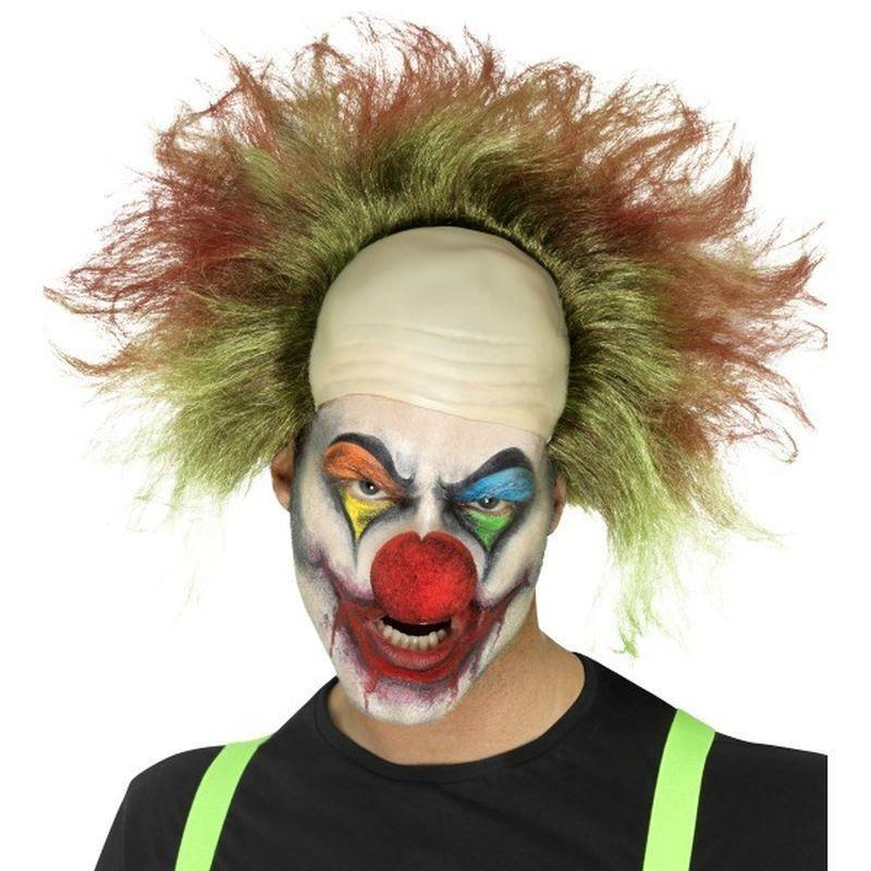 Sinister Clown Wig Adult Green - Cirque Sinister Mad Fancy Dress