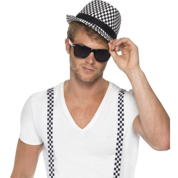 Ska Two Tone Instant Kit Adult Black/white - 1980S Mad Fancy Dress
