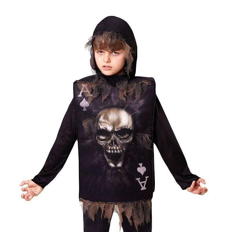 Skeleton Boy Tabard Hood |1 Size| |Childrens Costumes| Male 1 Size - Boys Costumes Mad Fancy Dress