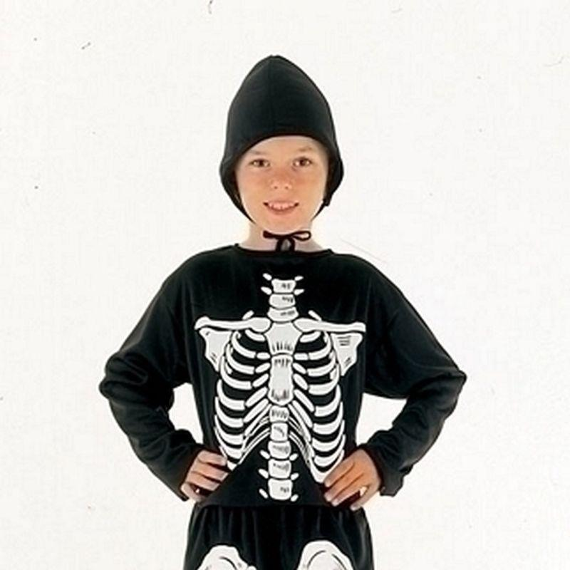 Skeleton Budget |Large| Childrens Costumes Unisex Large 9 12 Years - Boys Costumes Mad Fancy Dress