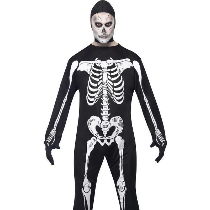 Skeleton Costume Adult Black/white - Halloween Costumes & Accessories Mad Fancy Dress