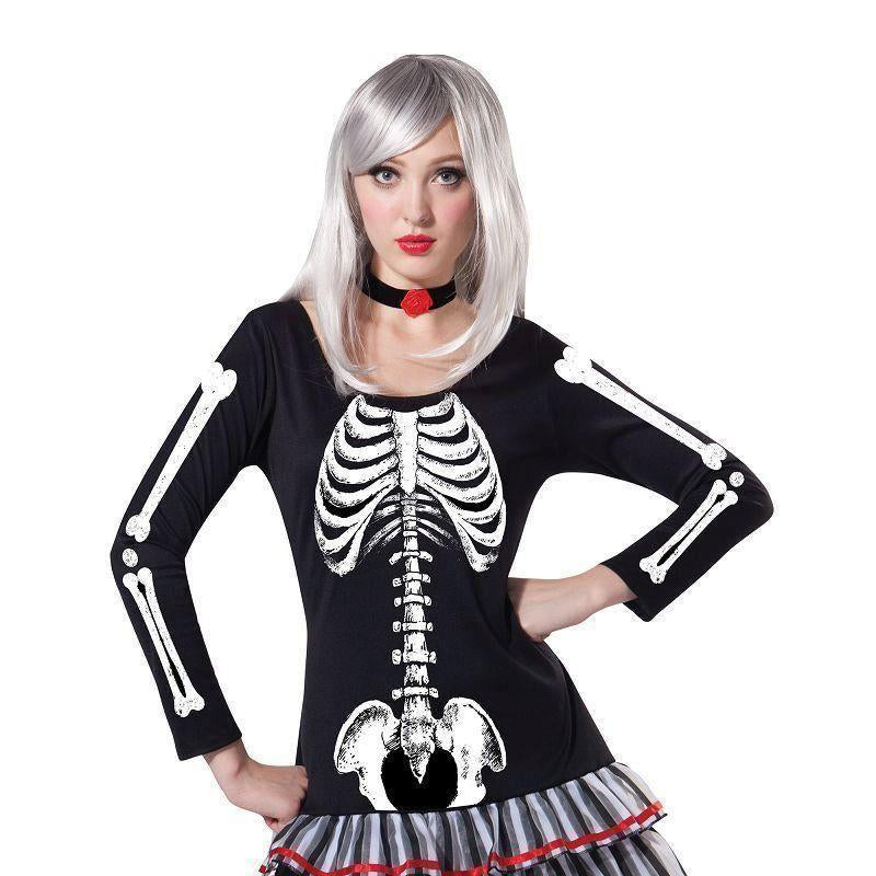 Skeleton Maiden |Adult Costumes| Female Uk Size 10 14 - Generic Ladies Costumes Mad Fancy Dress