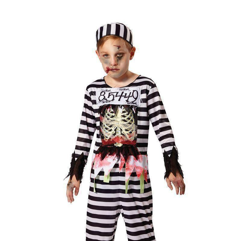Skeleton Prisoner |L| |Childrens Costumes| Male Large - Boys Costumes Mad Fancy Dress