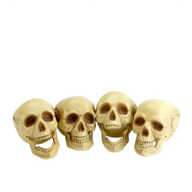 Skull Heads Adult Natural - Halloween Costumes & Accessories Mad Fancy Dress