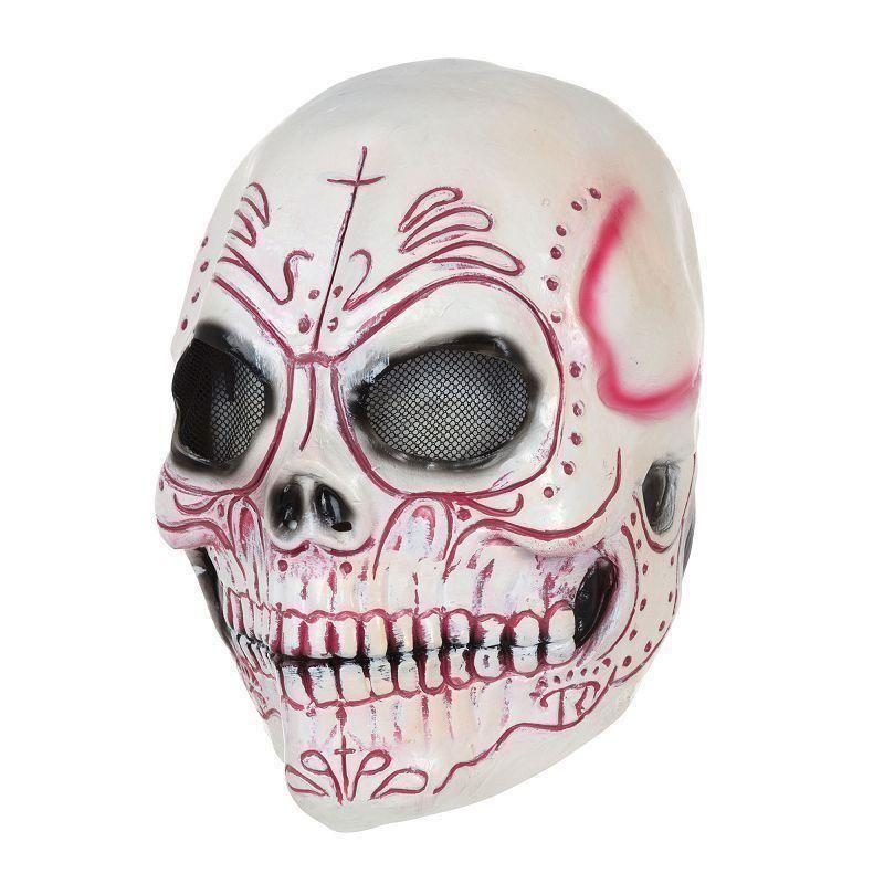 Skull Mask Colouful Latex |Rubber Masks| One Size Fits Most - Rubber Masks Mad Fancy Dress