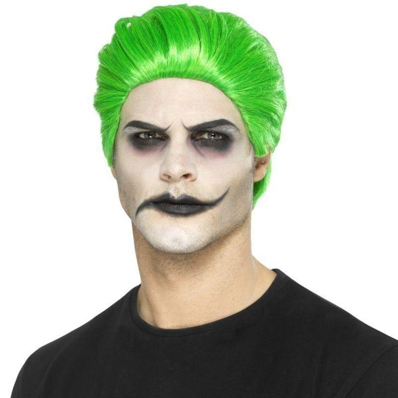 Slick Trickster Wig Adult Green - Halloween Costumes & Accessories Mad Fancy Dress